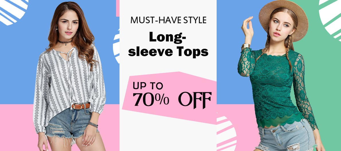 70% OFF and  Extra  $3 OFF Order $49+  for Tops