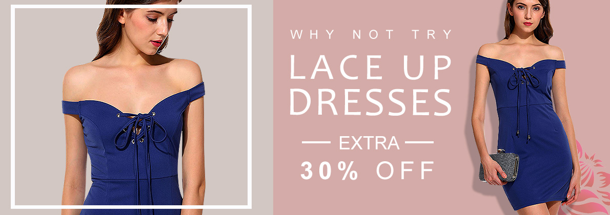 LACE UP DRESSES|DRESSLINK.COM