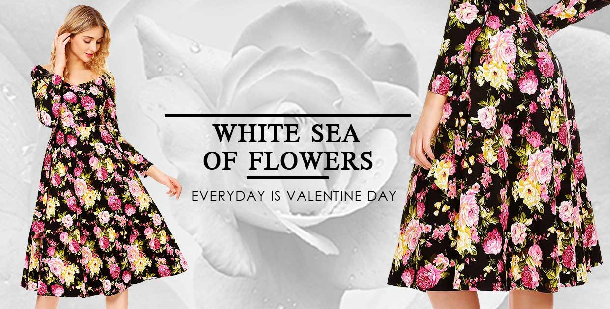 White Sea Of Flowers | Dresslink